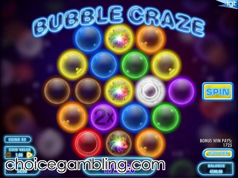 Slot Bubble Craze –Bewertung & kostenloses Spiel von IGT