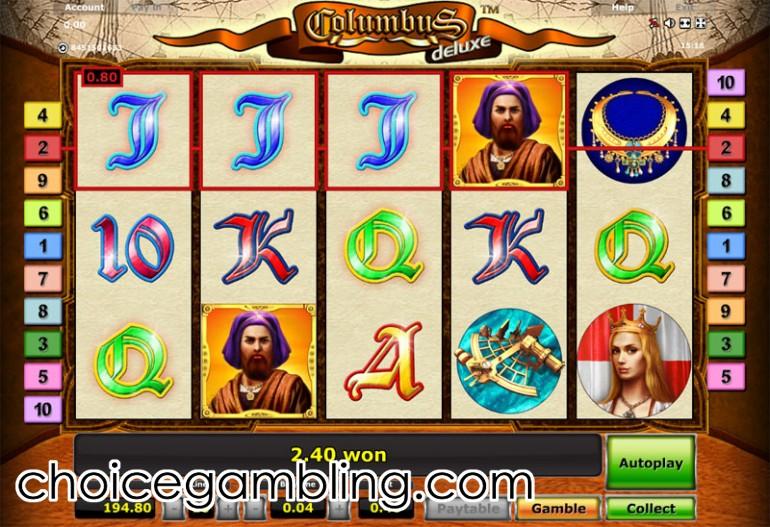 slot machine columbus deluxe