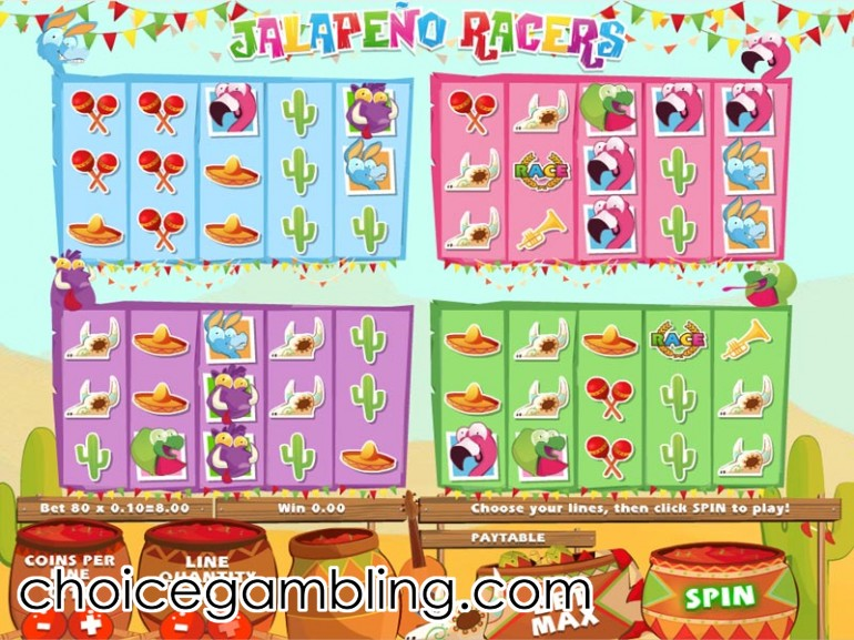 Jalapeño Racers Slot Machine - Play for Free Online
