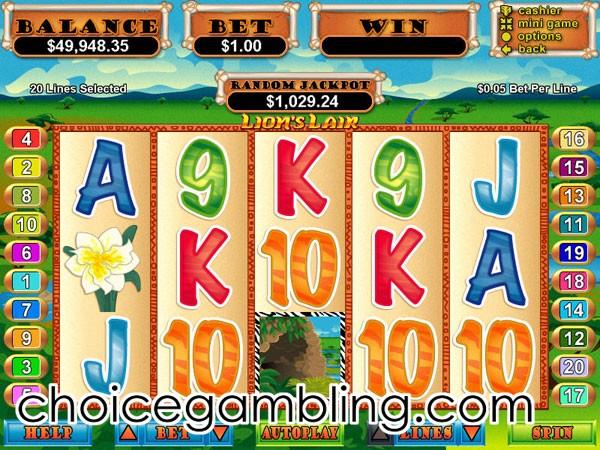 Lions Lair Slot Machine Online ᐈ RTG™ Casino Slots