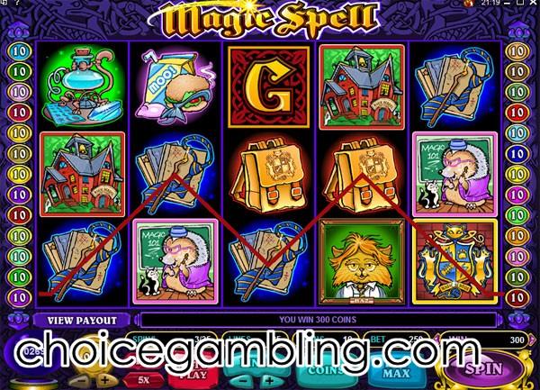Gambling magic spells