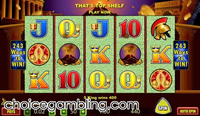 pompeii slot machine free play