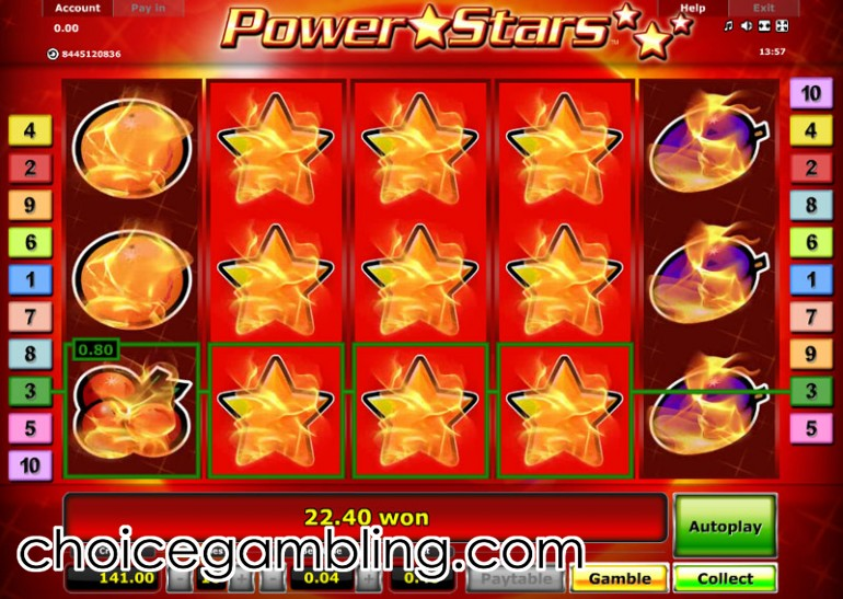 casino slot online power star