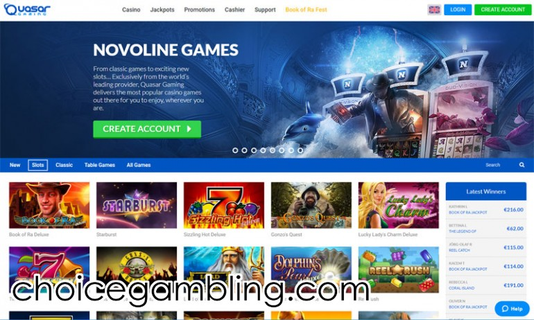 Quasar Gaming Slots