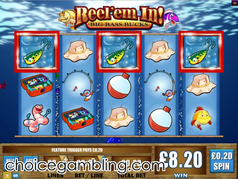 reel em in fishing slot machine