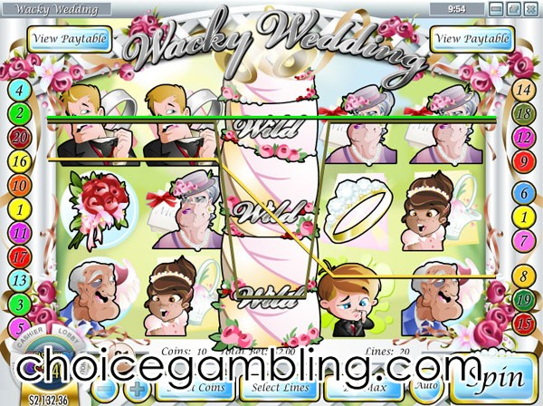 Wacky Wedding Slot - Play Rival Gaming Slots Online for Free